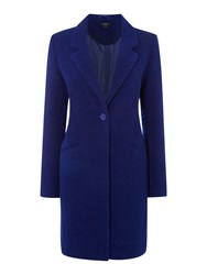 Therapy Boucle Boyfriend Coat Cobalt