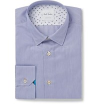 Paul Smith Blue Soho Slim Fit Pinstriped End On End Cotton Shirt