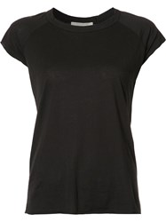Nili Lotan Short Sleeved T Shirt Black