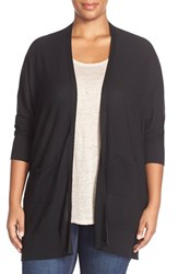 Plus Size Women's Foxcroft Back Button V Neck Cardigan