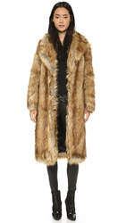 Whistles Wolfie Faux Fur Coat Multicolor