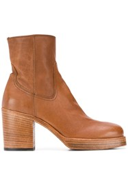 Officine Creative Chunky Sole Ankle Boots Brown