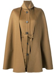 Rosetta Getty Belted Cape Jacket Brown