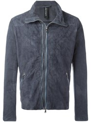 Giorgio Brato Zipped Bomber Jacket Blue