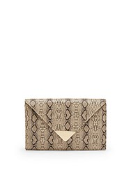 Saks Fifth Avenue Envelope Clutch White