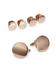 Saks Fifth Avenue Cuff Link And Shirt Stud Set Rose Gold