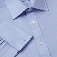 T.M.Lewin Bengal Stripe Prince Of Wales Shirt Blue