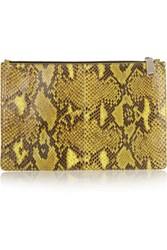 Jil Sander Large Python Clutch Bright Yellow