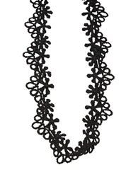 Design Lab Lord And Taylor Floral Lace Choker Necklace Black