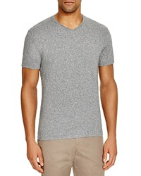 The Men's Store At Bloomingdale's V Neck Cotton Tee Black Grey Twist