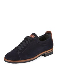 Gravati Suede Lace Up Oxfords Blue
