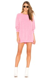 Wildfox Couture Roadtrip Sweater Dress Pink