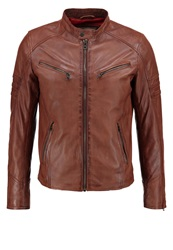 Redskins Cliff Leather Jacket Cognac