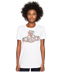 Vivienne Westwood Cracked Orb T Shirt Optical White