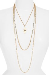 Treasure And Bond 'S Multistrand Necklace Grey Gold