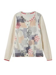 White Stuff Poetic Scatter Print Cardi Multi Coloured Multi Coloured
