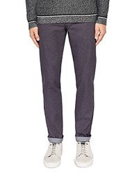 Ted Baker Hollden Slim Fit Textured Chinos Charcoal