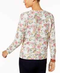 Style And Co Petite Printed Sweatshirt Created For Macy's Floral Garden