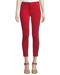 Parker Smith Ava Skinny Leg Crop Jeans Red