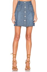 Sanctuary Marianne Button Up Skirt Blue