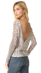 360 Sweater Zan V Back Reversible Leopard Multi