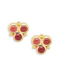 Temple St. Clair Tourmaline And 18K Yellow Gold Post Back Earrings