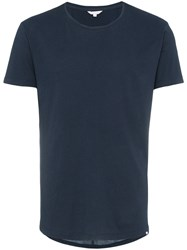 Orlebar Brown Tailored Fit Crew Neck T Shirt Blue