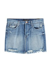 J Brand Distressed Mini Skirt
