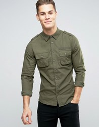 Blend Of America Regular Fit Cargo Shirt 70595 Dusty Green