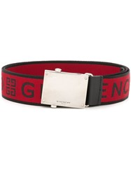 Givenchy Logo Buckle Belt Red