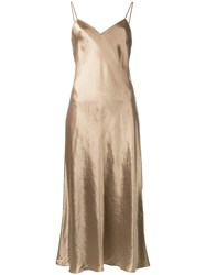 Vince Metallic Shift Dress Green