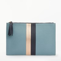 Boden Large Leather Keepsake Pouch Heritage Blue