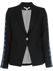 Veronica Beard Single Breasted Blazer Black