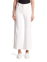 Calvin Klein Fray Bis Cropped Heavy Twill Denim Jeans White