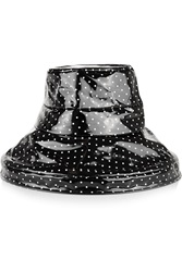 Dolce And Gabbana Polka Dot Coated Cotton Rain Hat