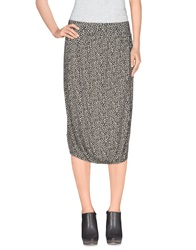 Scee By Twin Set Knee Length Skirts Black