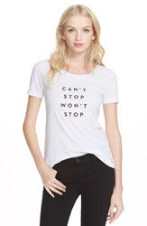 Milly 'Can't Stop Won't Stop' Graphic Tee Heather Grey