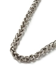 Topman Antique Silver Look Chunky Chain Necklace