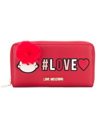 Love Moschino Zipped Wallet Red