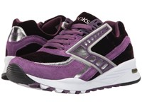 Brooks Heritage Regent Deep Purple Silver Chrome Women's Running Shoes