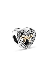 Pandora Design Pandora Charm 14K Gold Sterling Silver And Cubic Zirconia Bound By Love Gift Limited Edition Moments Collection