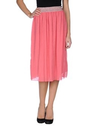 Pink Memories 3 4 Length Skirts Coral