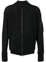 The Viridi Anne Knitted Bomber Jacket Black