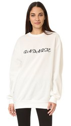 Rodarte Long Sleeve Sweatshirt White Black
