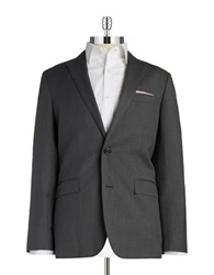 Brooks Brothers Red Fleece Two Button Wool Blazer Grey