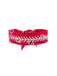 Fallon Jewel Embellished Bandana Choker Red