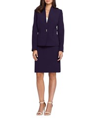 Tahari By Arthur S. Levine Skirt And Pleated Suit Set Plum