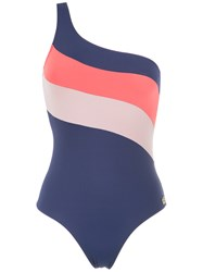Brigitte One Shoulder Swimsuit Women Polyamide Spandex Elastane P Pink