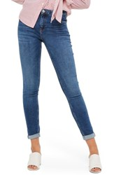 Topshop Women's Lucas Relaxed Fit Jeans Mid Denim