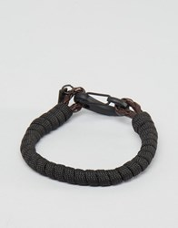 Icon Brand Hook Woven Bracelet In Brown Brown